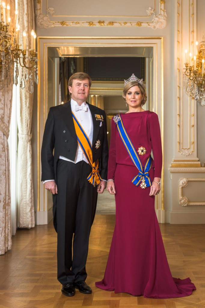 Staatsieportret van koning Willem Alexander en koningin Máxima