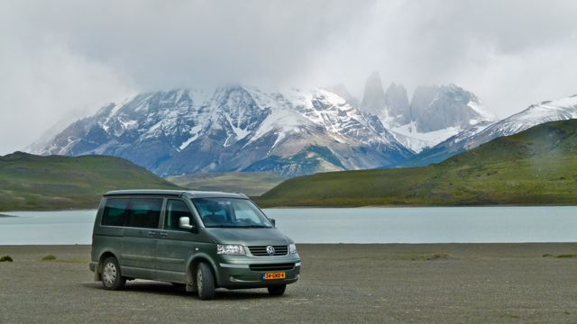 VW T5 in Torres del Paine (Chili)