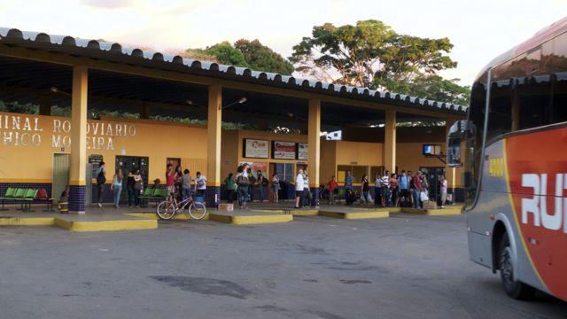 Het busstation van Chapada do Guimarães
