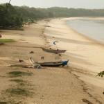 Strand aan de Amazonerivier